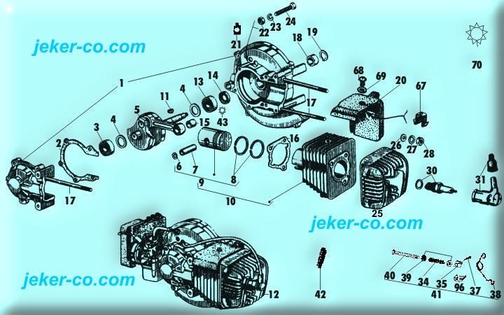 Motorenteile Piaggio Ciao SI Bravo CBA Shop kaufen