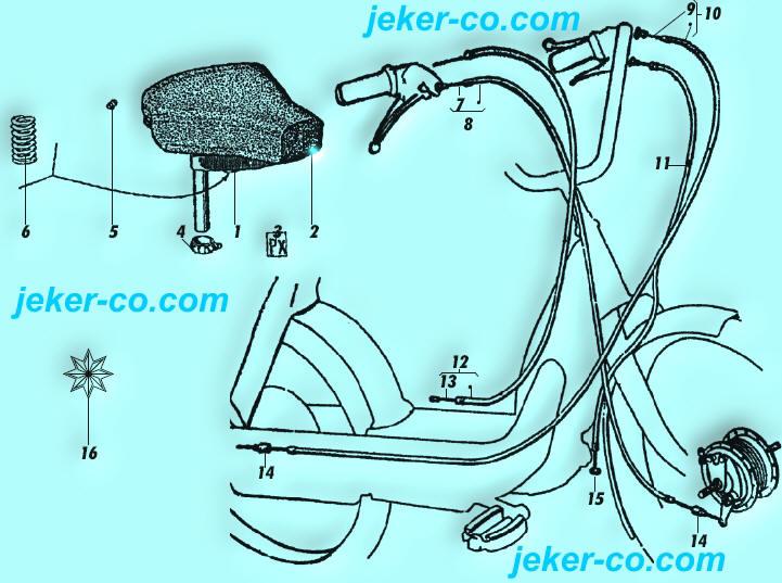 piaggio ciao sattel kabel. Black Bedroom Furniture Sets. Home Design Ideas