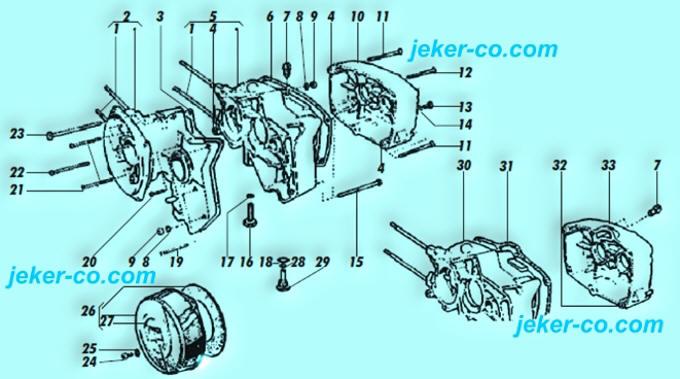 Mofa Ersatzteile Puch Maxi N + S 1 + 2 Gang Explosionszeichnungen der ...