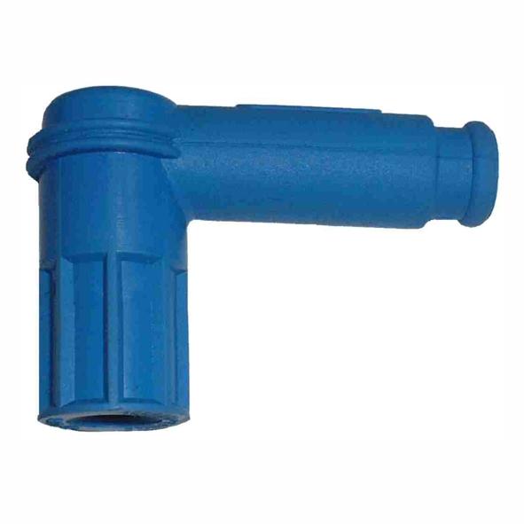 Roller Mofa Kerzenstecker abgewinkelt Gummi blau KS Mofa Shop kaufen