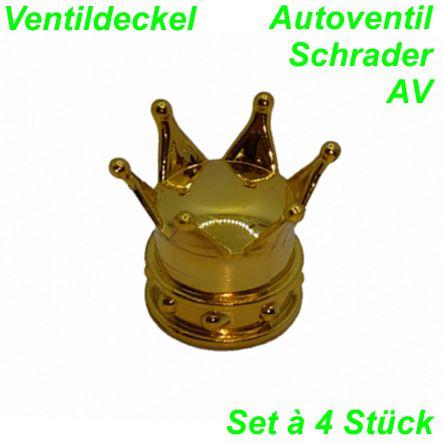 Ventildeckel Krone gold Set  à 4 Stk. Mofa Shop kaufen