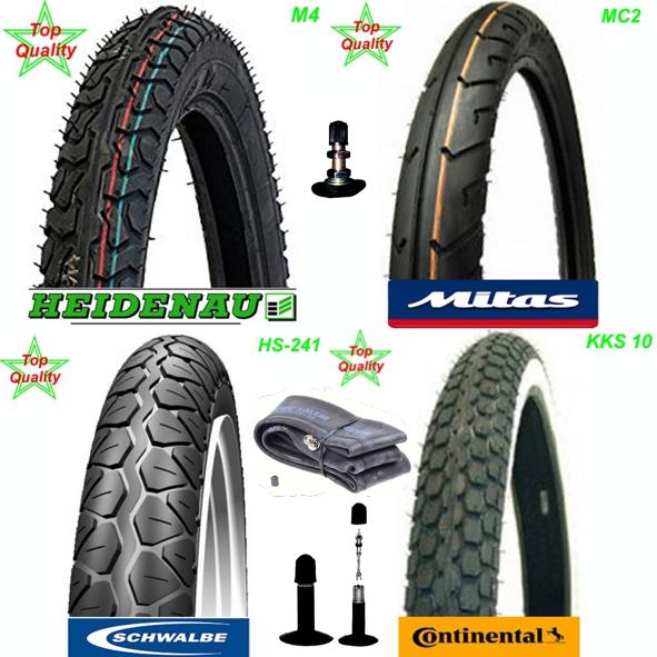 Pneu Reifen Heidenau Mitas Schwalbe Continental 17 x 2 1/4 Mofa Shop kaufen